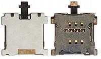 Шлейф для HTC One M7 801e с разъемом SIM-карты