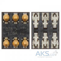 (Коннектор) Разъем SIM-карты Nokia 2220s/2690/2730c/3109/3500/3610f/5200/5228/5230/5233/5235/5300/5320/5500/5800 /