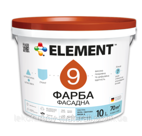 """Фасадная краска ELEMENT 9 """"Экстра"""""""
