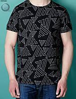 Мужская футболка (с принтом) Staff - Angle Art. BRT0025-1 (чёрный \ белый)