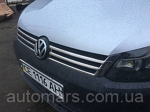Накладки на переднюю решётку Volkswagen Caddy (2010+) 2 штуки