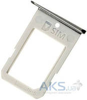 Держатель SIM-карты Samsung G925F Galaxy S6 Edge Black