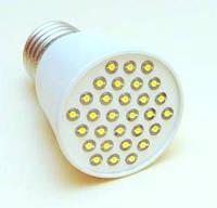 Светодиодная лампа Е27 2W (светоотдача 30Вт) теплая