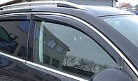 Дефлекторы окон (ветровики) Volvo S80 2006 -> С Хром Молдингом, компл