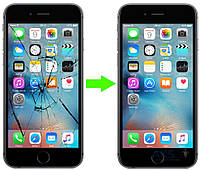 Замена стекла на iPhone 6s Plus (в стоимость услуги входит стоимость стекла)