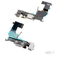 Шлейф для Apple iPhone SE с разъемом зарядки, коннектор гарнитуры и микрофоном Original White