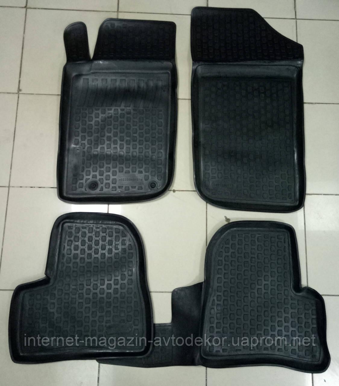 Коврики автомобильные для Peugeot 206 (Пежо),полиуретан Лада Локер