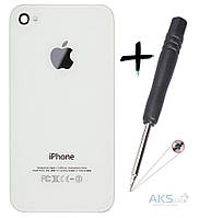 Задняя часть корпуса (крышка аккумулятора) Apple iPhone 4 Original White (75184) + отвертка для замены (180069)