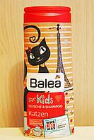 Гель для душа + шампунь Balea Katzen без слез 300 мл. Германия \8765677