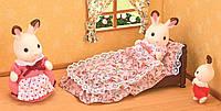Кровать с одеялом и подушкой, Sylvanian Families