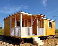 Дачный дом 7.5*4.6м с верандой.