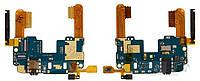 Шлейф для HTC 601n One mini с разъемом гарнитуры, кнопкой включения, регулировки громкости и датчиком приближения