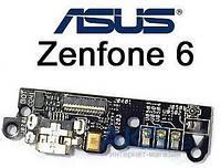 Шлейф для Asus ZenFone 6 (A600CG) с разъемом зарядки и микрофоном