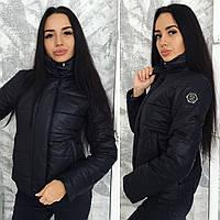 Черная весенняя куртка
