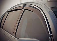 Дефлекторы окон (ветровики) Lexus GS300 2005-2010 С Хром Молдингом