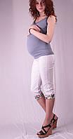 Бриджи для беременных с цветными вставками, белый и беж