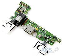 Шлейф для Samsung A300F Galaxy A3 с разъемом зарядки, разъемом наушников, с кнопкой Меню (Home), сенсорными кнопками, микрофоном  rev 0.8 Original