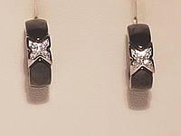 Серебряные серьги с керамикой. Артикул С2ФК/1000, фото 1