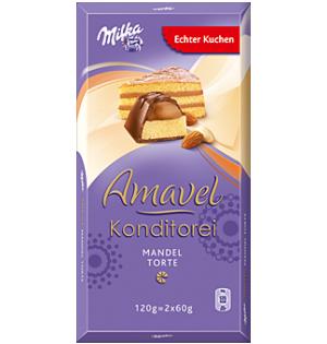 Шоколад Milka Amavel Konditorei с миндальным бисквитом, 120 г