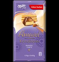 Шоколад Milka Amavel Konditorei с миндальным бисквитом, 120 г, фото 1