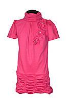 Платье для девочки. Туника с коротким рукавом 6-10 лет