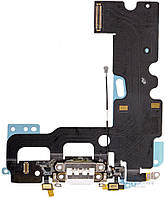 Шлейф Apple iPhone 7 с разъемом зарядки / наушников и микрофоном Original White
