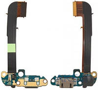 Шлейф для HTC One M7 801e / One M7 801n с разъемом зарядки и микрофоном
