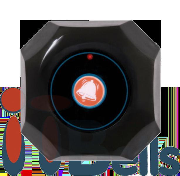 Кнопка вызова официанта октагон черная ITbells-301