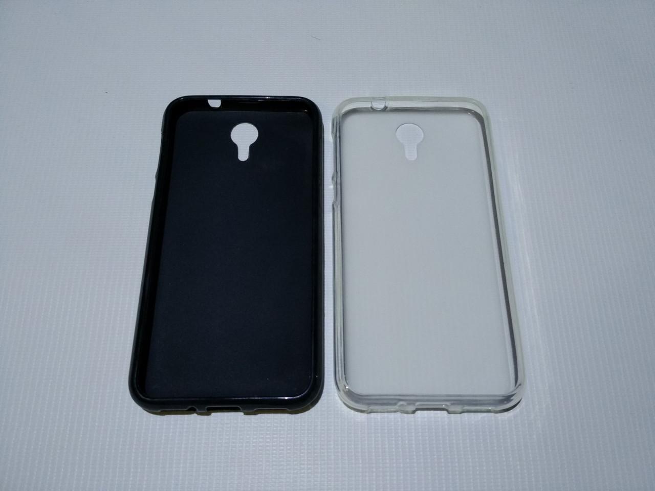Силиконовый чехол бампер для Homtom HT3, HT3 Pro, Ergo A500 Best (черн