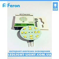 Светодиодная лампа Feron  LB17 12v G4 3W для мебельных светильников, фото 1