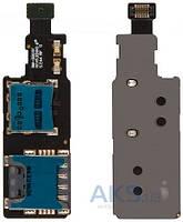 Шлейф для Samsung G800H Galaxy S5 mini с разъемом SIM-карты и карты памяти Original