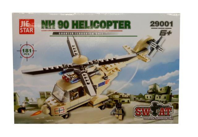 Конструктор Военный Вертолет 181 дет. 29001 р.28,5*5,5*19см