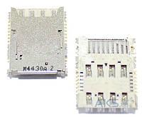 (Коннектор) Aksline Разъем SIM-карты и карты памяти Samsung J500H Galaxy J5