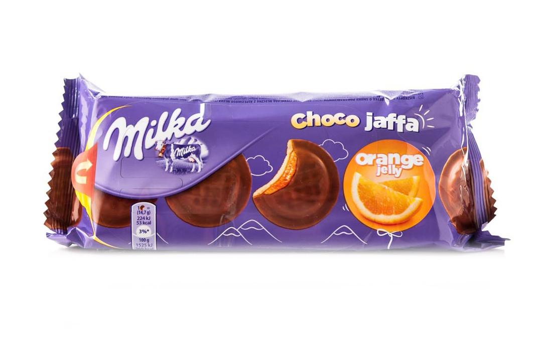Бисквит Milka Choco Jaffa Orange Jelly (милка с апельсиновым джемом), 150 гр - Продукты из Италии - интернет магазин «Market IT» в Львове