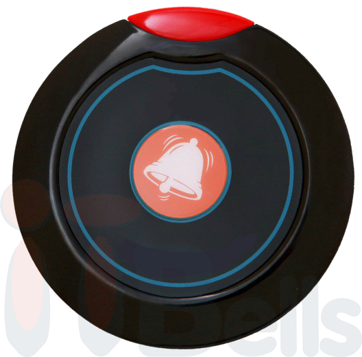 Мини - кнопка вызова персонала круглая черная ITBells-305