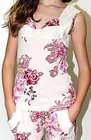 Женская пижама, комплект: шортики и маечка. Материал вискоза. В розницу и оптом в Украине.