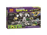 Конструктор Bela 10209 Черепашки Ниндзя (Ninja Turtles) Нападение робота Бакстера, 404 дет