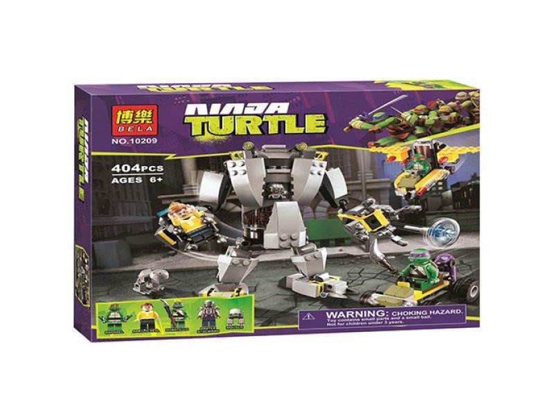 Конструктор Bela 10209 Черепашки Ниндзя (Ninja Turtles) Нападение робо