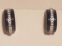 Серебряные серьги с керамикой. Артикул С2ФК/1005