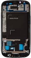 Передняя панель корпуса (рамка дисплея) Samsung I9300i Galaxy S3 Duos Black