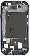 Передняя панель корпуса (рамка дисплея) Samsung I9305 Galaxy S3 Blue