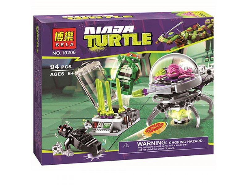 Конструктор Bela 10206 Черепашки Ниндзя (Ninja Turtles) Побег Крэнга и