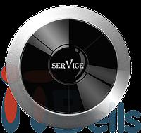 Кнопка вызова влагозащищённая круглая серая ITbells - 315