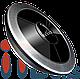 Кнопка вызова влагозащищённая круглая серая ITbells - 315, фото 2