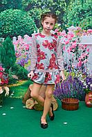 Платье Милашка р. 122-140 цветы