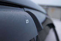 Дефлекторы окон (ветровики) Ford Focus III Hb/sd 2011 (ХРОМ МОЛДИНГ) (ПЕРЕДНИЕ 2шт)