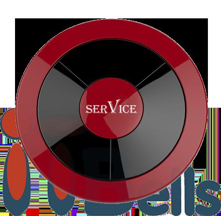 Кнопка вызова влагозащищённая круглая красная ITbells - 315