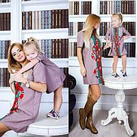 Family Look парные платья мама+дочка