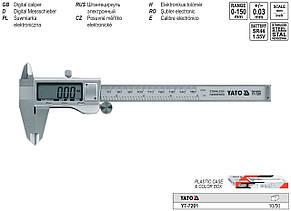 Штангенциркуль электронный 150мм/0,02мм YATO YT-7201, фото 2