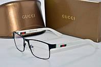 Оправа прямоугольная Gucci черная с белым